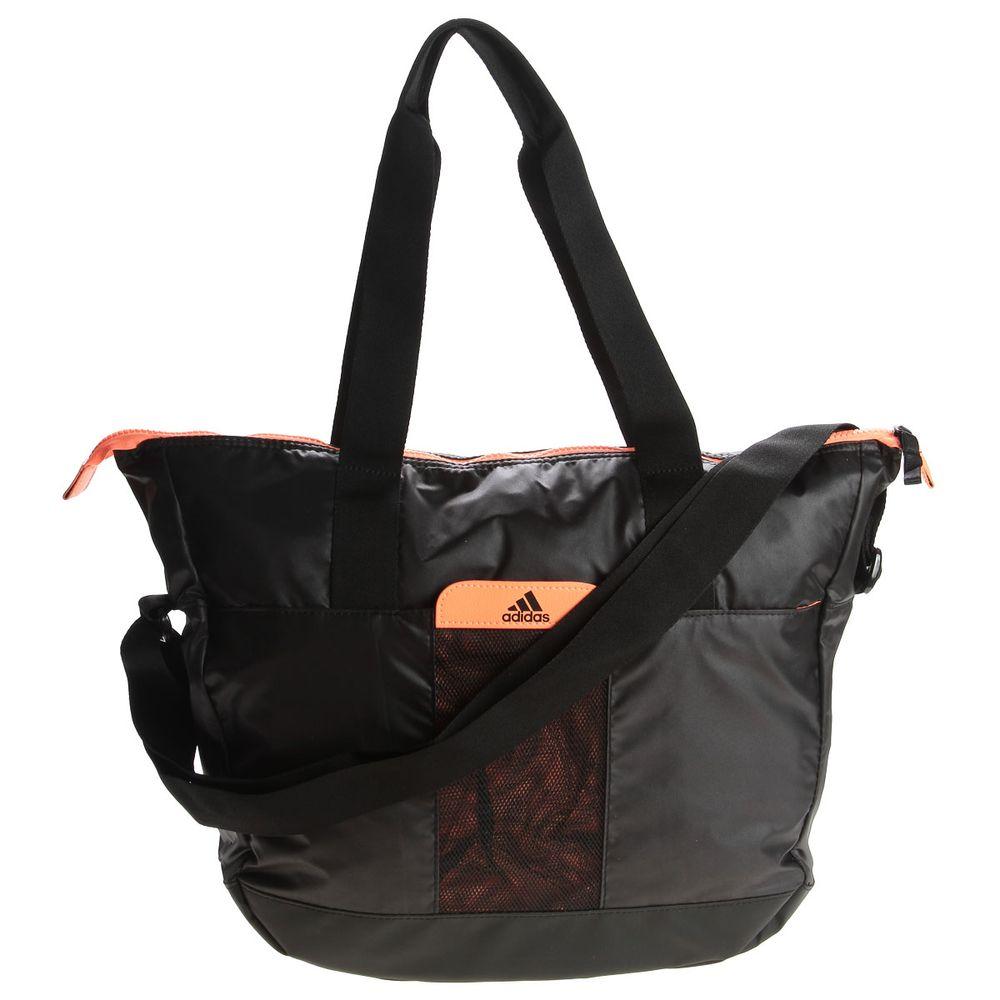 Bolsa Feminina Adidas Tote Perf Ess W : Bolsa adidas tote perf ess preto e laranja paquet?