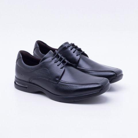 d2abd5f713d Sapato Casual Democrata Air Spot Couro Preto Masculino Preto - Esposende -  Esposende