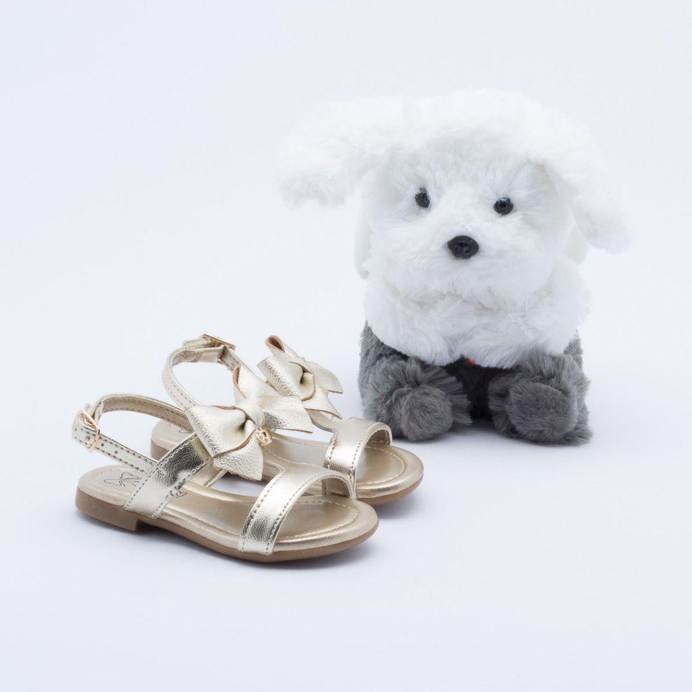 7ded1defe73ce2 Sandália Klin Suami Baby Anjinho Infantil Dourada Dourado ...